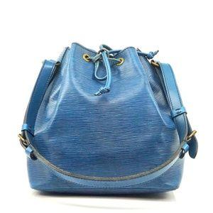 Auth Louis Vuitton Noe Pm Blue Epi #1957L19